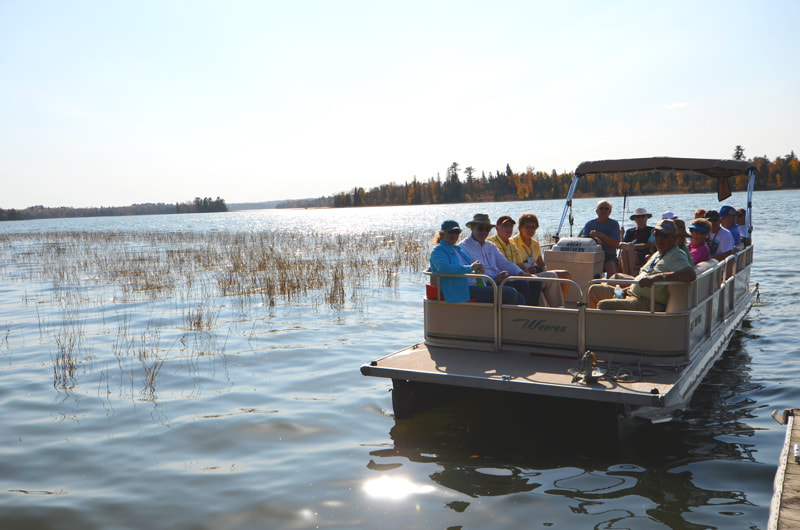 Pontoon ride at Itasca State Park