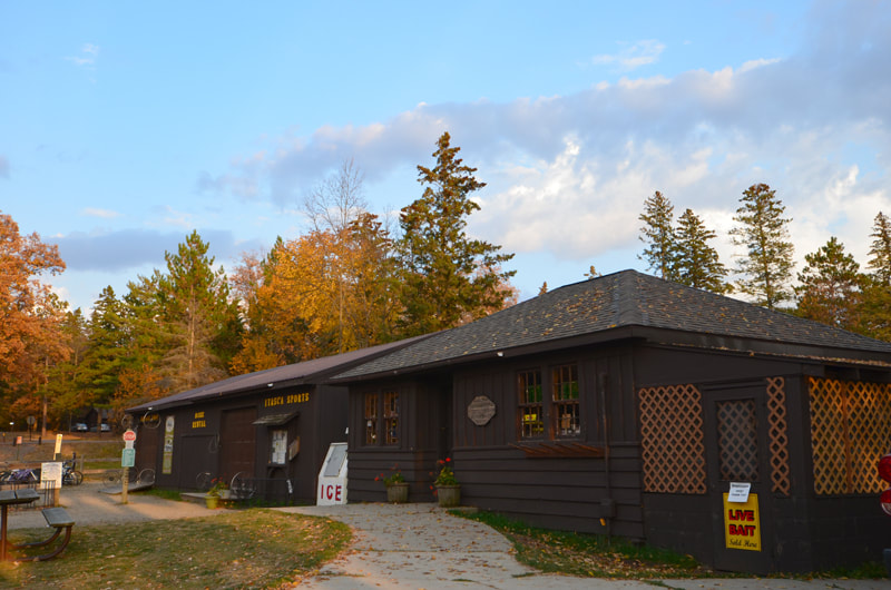 Visitor center at Itasca State Park