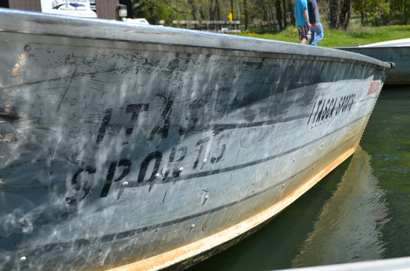fishing boat to rent at Itasca State Park