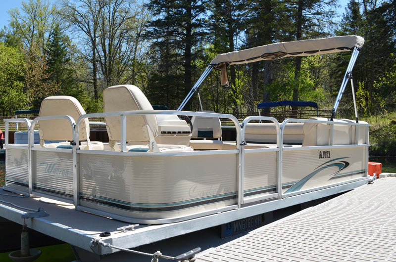 Pontoon to rent at Itasca State Park