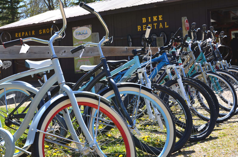 bike rental at Itasca State Park
