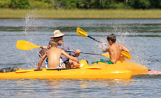 kayaking at Itasca Sports